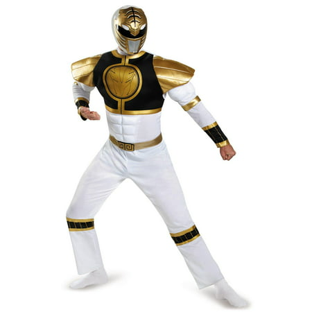 Power Ranger Adult Costume (Mighty Morphin Power Rangers: White Ranger Muscle Adult)