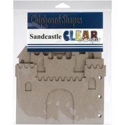 "Clear Scraps Sandcastle Chipboard Album 7""X9""-5 Pages & No Rings"
