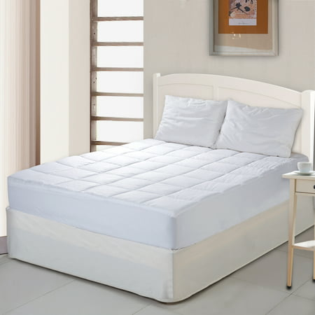 Cottonloft Self-Cooling 100% Cotton Cooling Mattress Pad 100% Cotton Fill and Cover