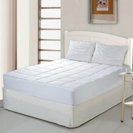 Cottonloft Self-Cooling 100% Cotton Cooling Mattress Pad 100% Cotton Fill and