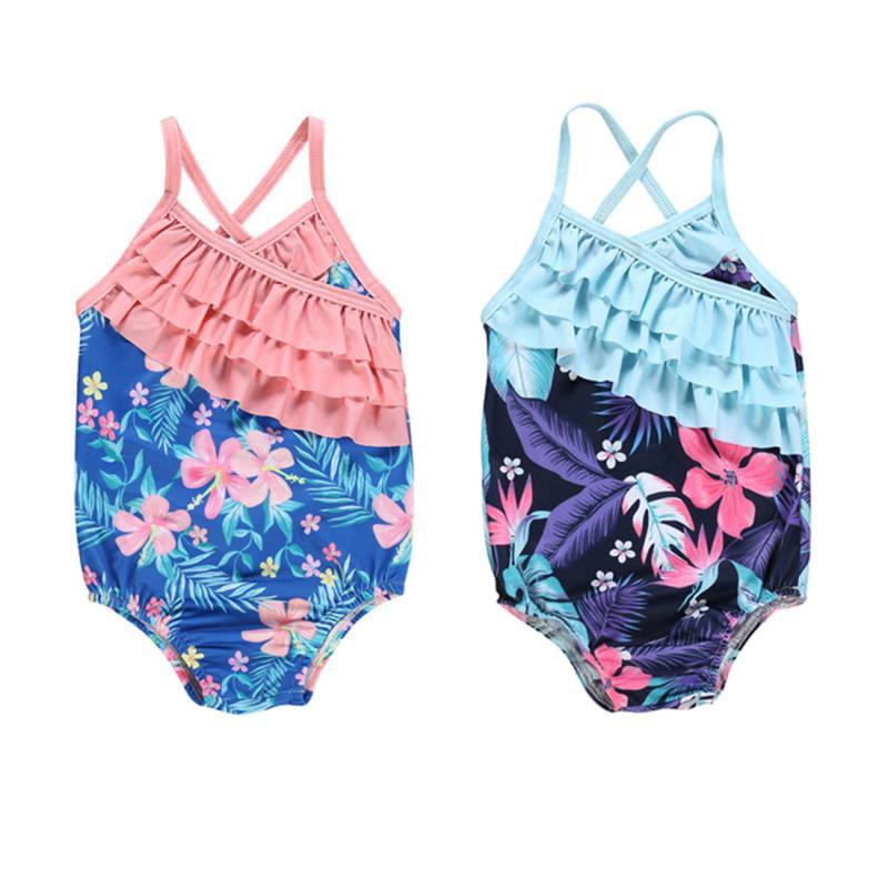 3-6 Month Swimsuit Girls Wave Zone Bikini Baby Skirt Strawberry Tankini