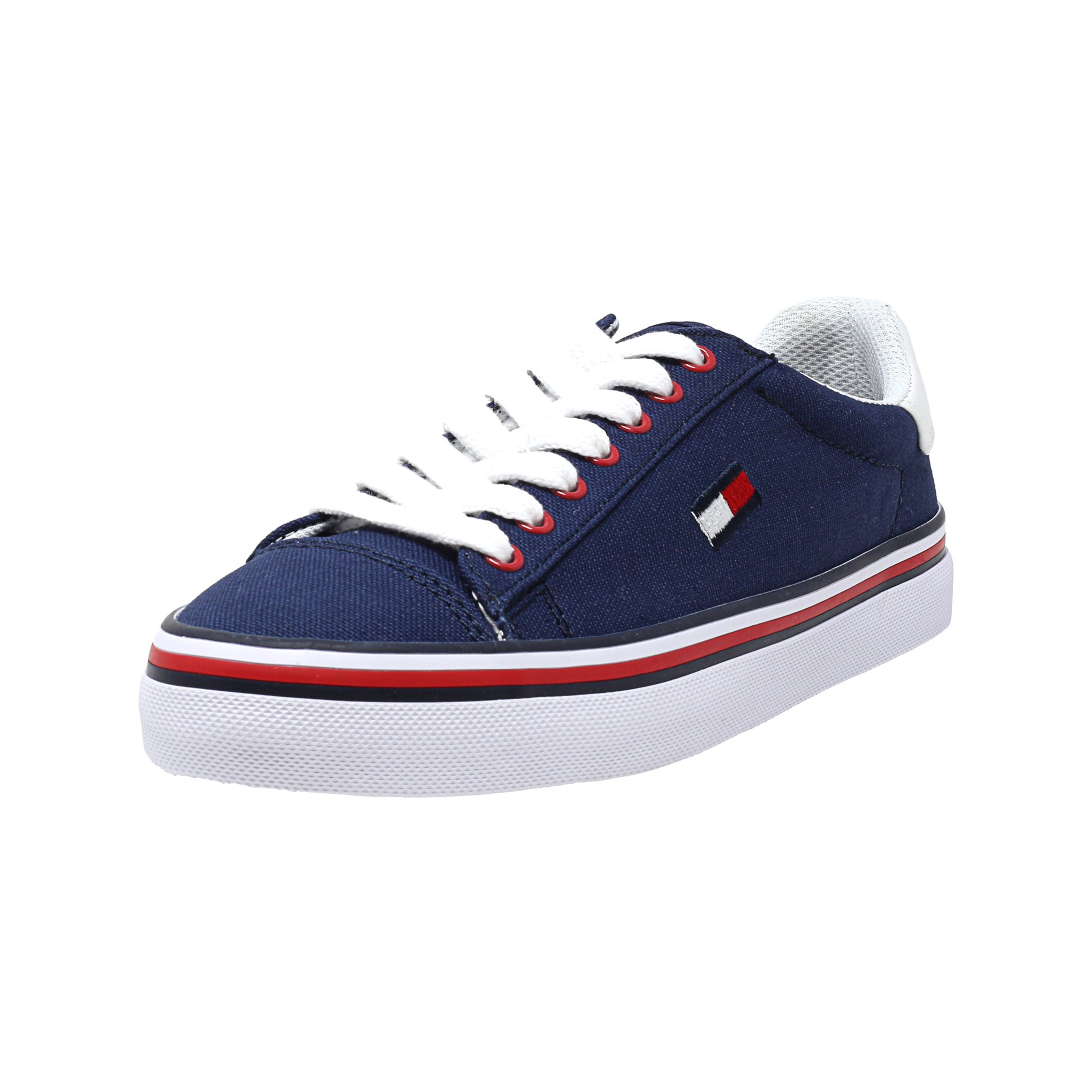 9a0d0e69 Tommy Hilfiger Women's Fressian Fabric Medium Blue Ankle-High Fashion  Sneaker - 9M