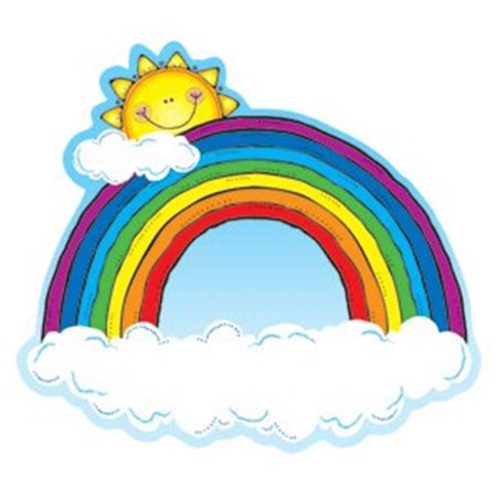 Carson Dellosa DJ-620024 Cut outs RAINBOWS - image 1 de 1