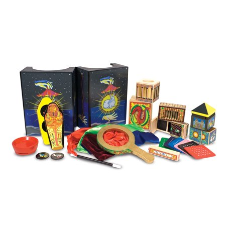 Melissa & Doug Deluxe Solid-Wood Magic Set With 10 Classic Tricks (Halloween Party Magic Tricks)