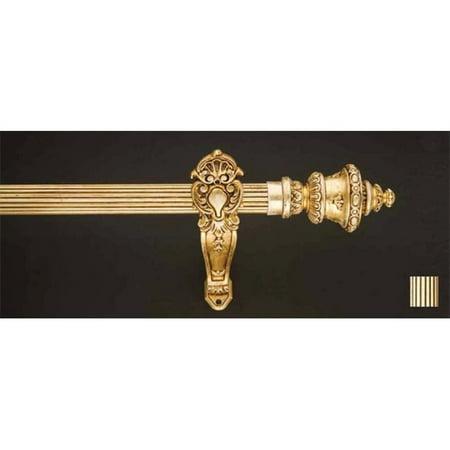 Palas 1188 Curtain Rod Set - 1.25 in. - Gold Leaf - 48 in. - image 1 de 1