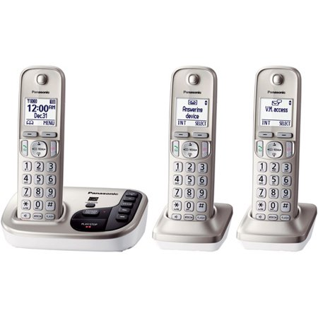 Panasonic Kx Tgd223n Expandable Digital Cordless Answering System With 3 Handsets