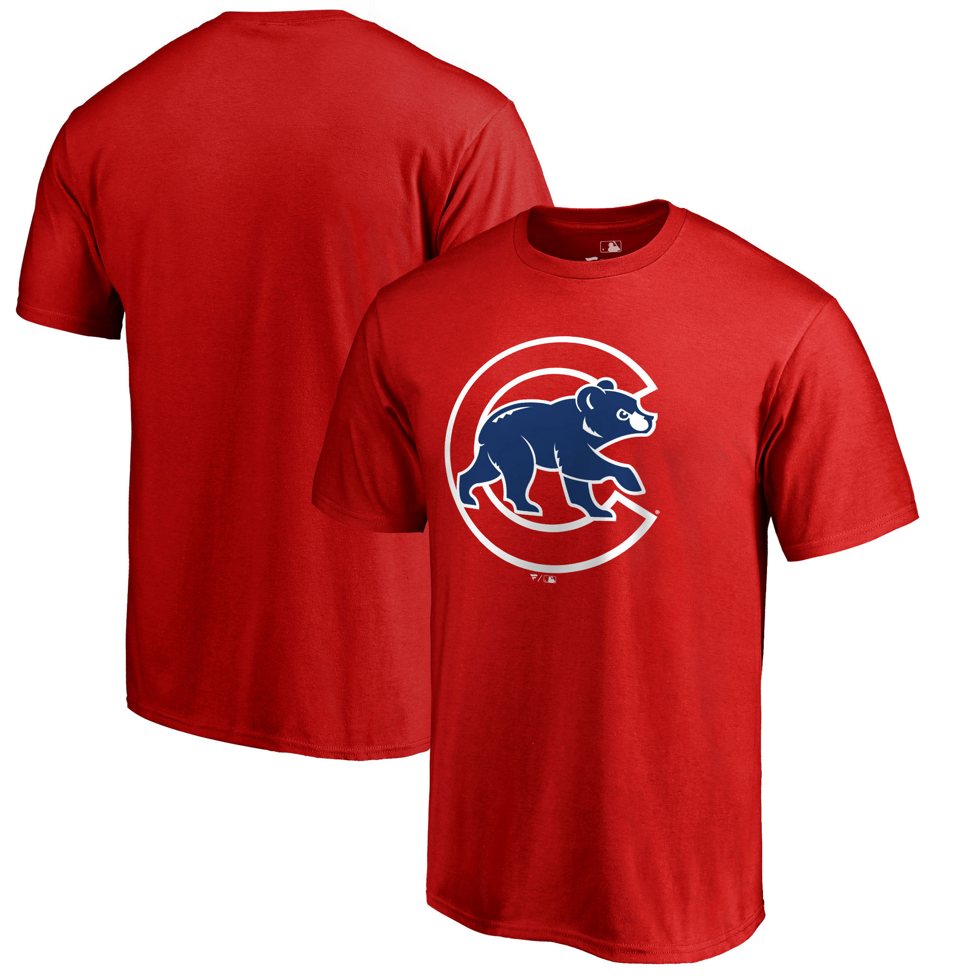 Chicago Cubs Primary Logo T-Shirt - Red