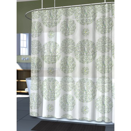 Splash Home High Quality EVA 5G Mozaik Shower Curtain Liner Design For Bathroom Showers And Bathtubs