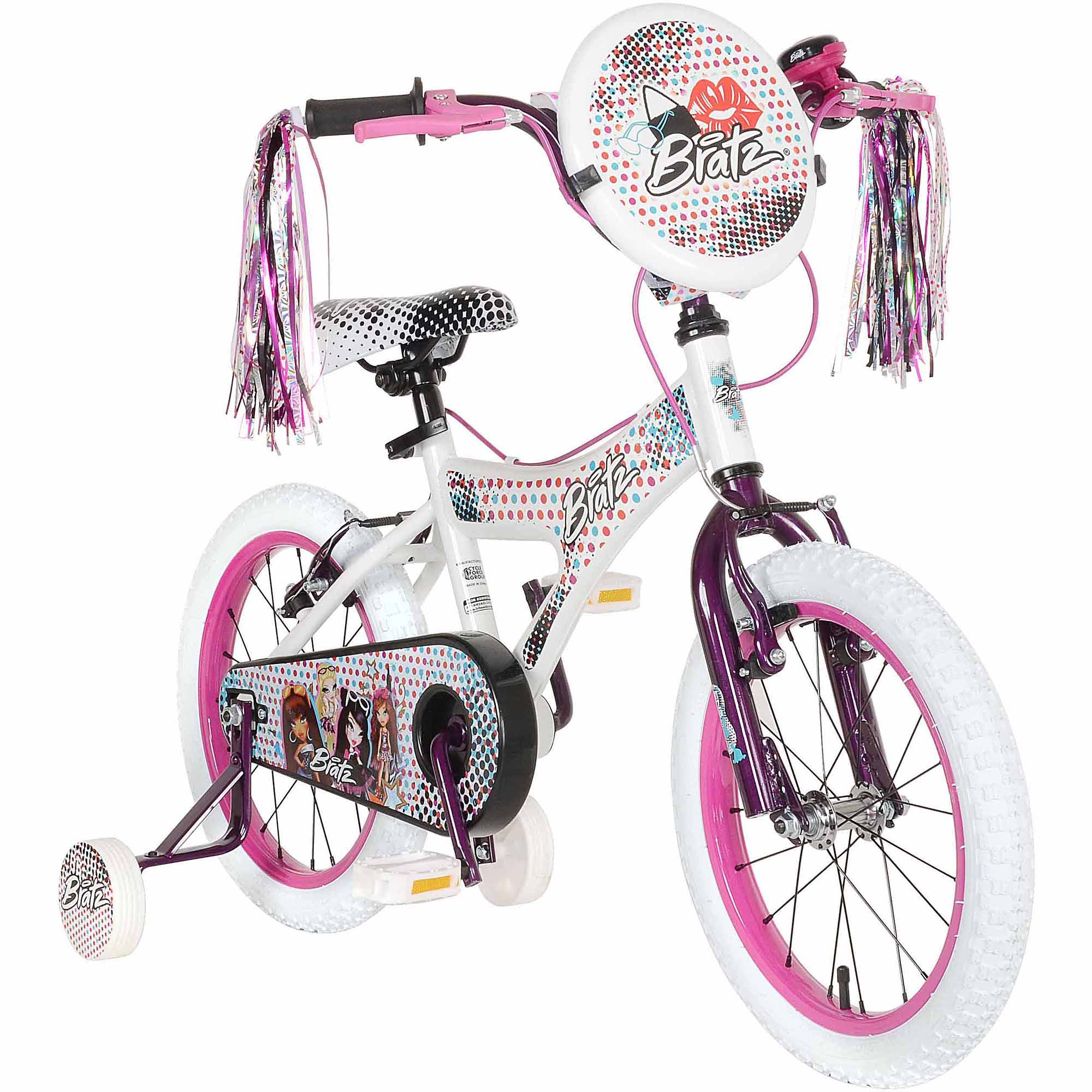 """Bratz 16"""" White/Purple Bike"""
