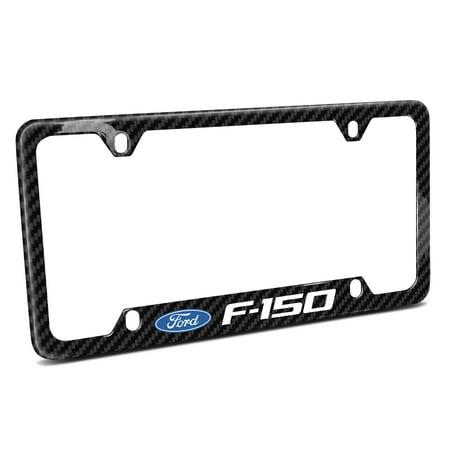 Ford F-150 (2009-2014) Black Real Carbon Fiber 50 States License Plate Frame