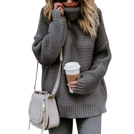 02654e121ae2 Sexy Dance - Womens Cable knit Sweaters Casual knitted Pullover High Neck  Long Sleeves Jumper Winter Autumn Knitting Coat Loose Cardigan Knitwear  Outwear ...