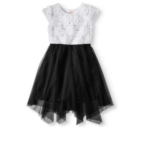 Wonder Nation Floral Soutache Holiday Dress (Little Girls & Big Girls) - Colonial Dress For Girls