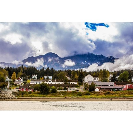 View of port in Haines, Alaska, United States of America, North America Print Wall Art By Laura