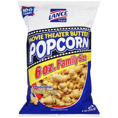 Lance Movie Theater Butter Popcorn, 6 oz