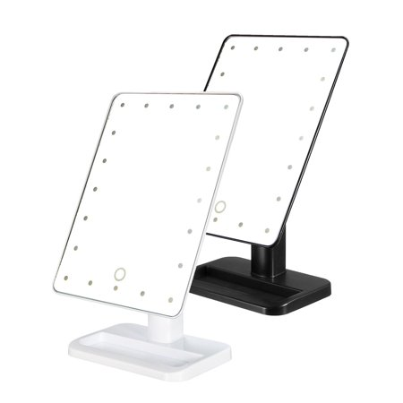 LuckyFine Coating Touch Screen Cordless LED Lighted Movable Vanity Makeup Mirror With 20 Bright LED Lights