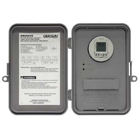 -Hour/7-Day Electronic 40A, SPDT/DPDT, Auto-Voltage, NEMA 3R Outdoor Plastic Enclosure (40a Electronic)