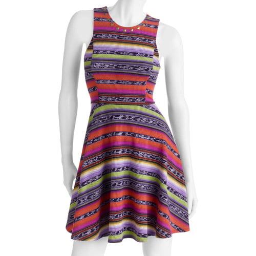 G21 Juniors' Studded Knit Skater Dress