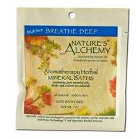 Nature's Alchemy - Aromatherapy Mineral Baths, Breathe Deep 1 oz each