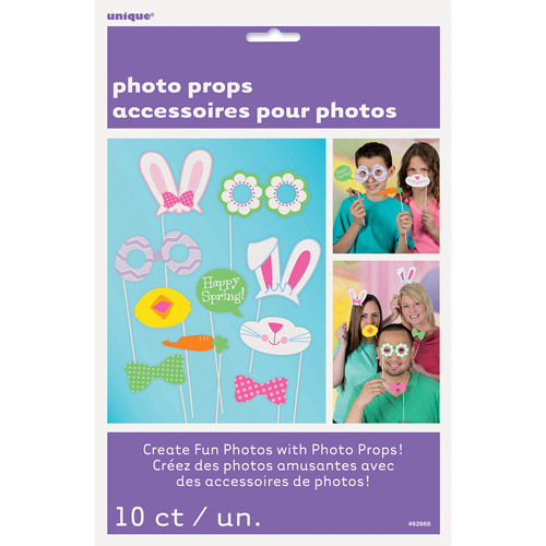 Spring Photo Booth Props, 10 Pieces