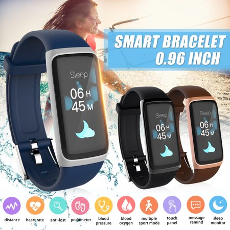 Smart Wristband OLED Display h Fitness Activity Tracker Bracelet Sleep Heart Rate Blood Pressure Monitor Pedometer Sedentary Call reminder Waterproof Sports Running Watch  - image 4 of 4