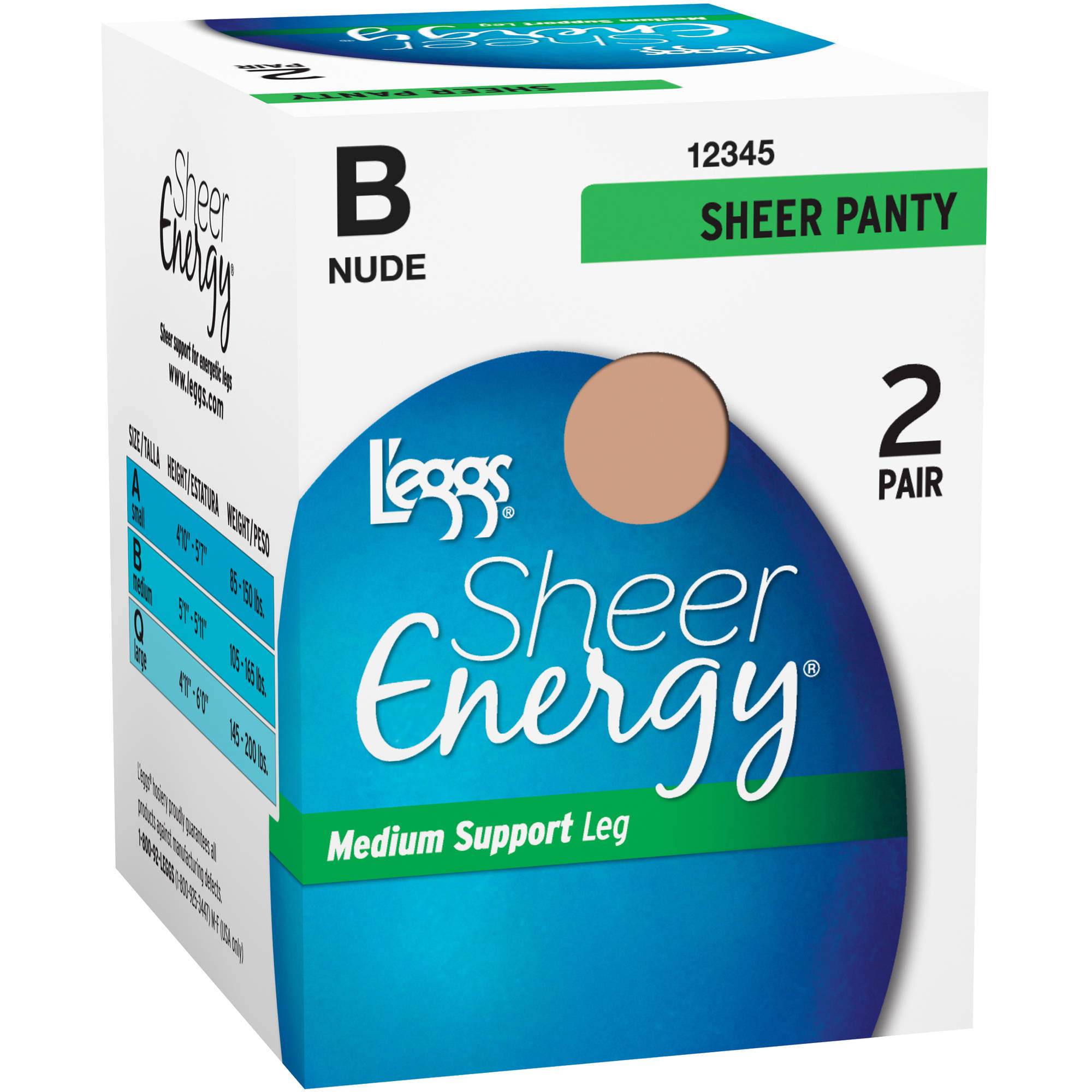 1bfec57519e Sheer Energy - All Sheer Pantyhose 2 Pack - Walmart.com