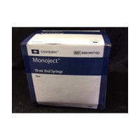 Covidien Monoject Oral Syringe, Clear, 10mL, 100ct 088819071022A1221