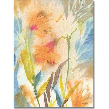Trademark Art Tropical Orange Flowers Canvas Wall Art by Philippe Shelia Golden