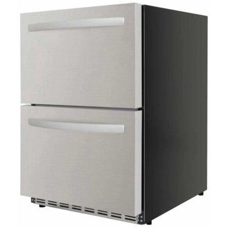 Counter Depth Stainless Refrigerator - ThorKitchen 24 Inch Outdoor Built In Counter Depth Refrigerator with 5.3 cu. ft. Capacity, in Stainless Steel HRF2401U