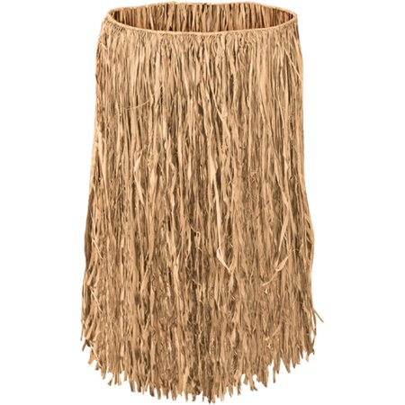 Teen Raffia Hula Skirt Case Pack of 12 (Tan Raffia)