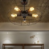 Industrial 5-Light Ceiling Light Pendant Light Lamp Hanging Light Fixture Ceiling Chandelier Lighting Fan Style Metal Cage E27 Bulb For Indoor Lighting (Without bulbs)