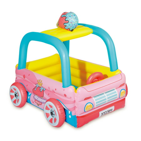 Play Day Inflatable Ice Cream Truck Kiddie Pool & Play Center, Pink - Walmart Plastic Pools