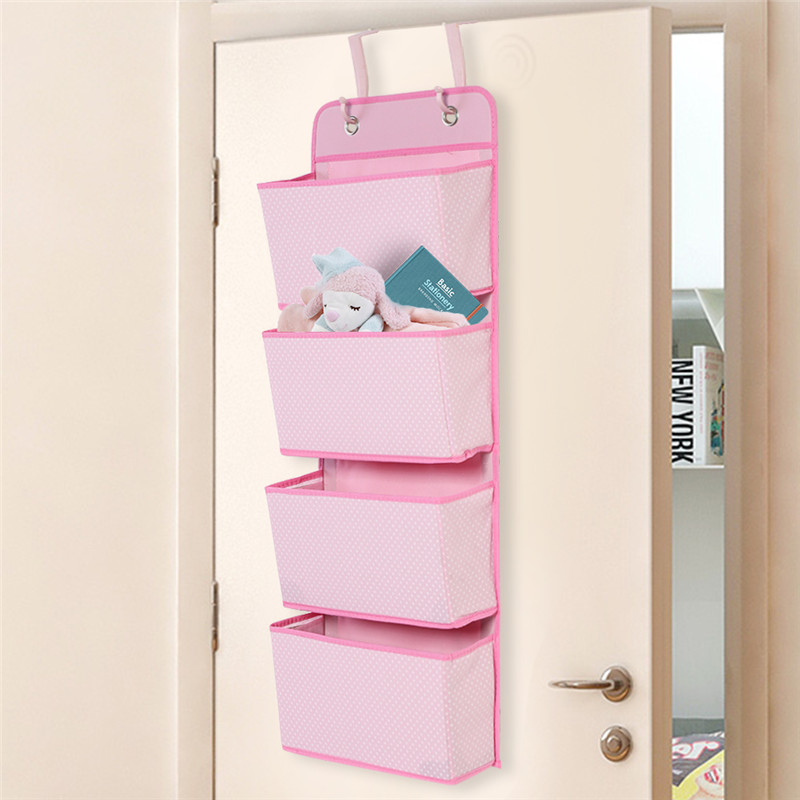 Hanging Closet Organizer, 4 Pockets Wall Mount/Over Door Storage For Toys,