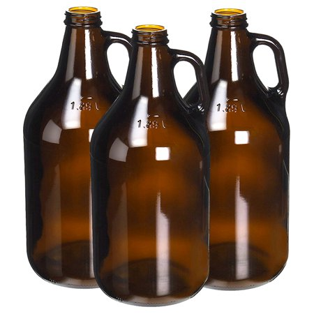 True Fabrications 1/2 Gallon Amber Beer Growler - Reusable - Has UV