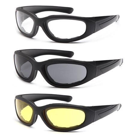 4bc93cf299 TRUST OPTICS Vizgard 3 Pairs Motorcycle Riding Glasses Safety Goggles with  Anti Fog UV400 Protection in Clear