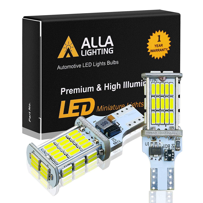 YEERON 4PCS 921 912 T15 LED Reverse Lights 1500LM Super Bright 45SMD-4014 Chips W16W 904 906 LED Bulbs For Car Truck Backup Lights,DC//AC 9-36V,6000K Xenon White.