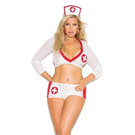Full Costumes (Sexy Plus Size Full Figure Heart Breaker Nurse Costume- Fits size)