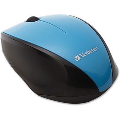 Verbatim Wireless Notebook Multi-Trac Blue LED Mouse - Blue VER97993