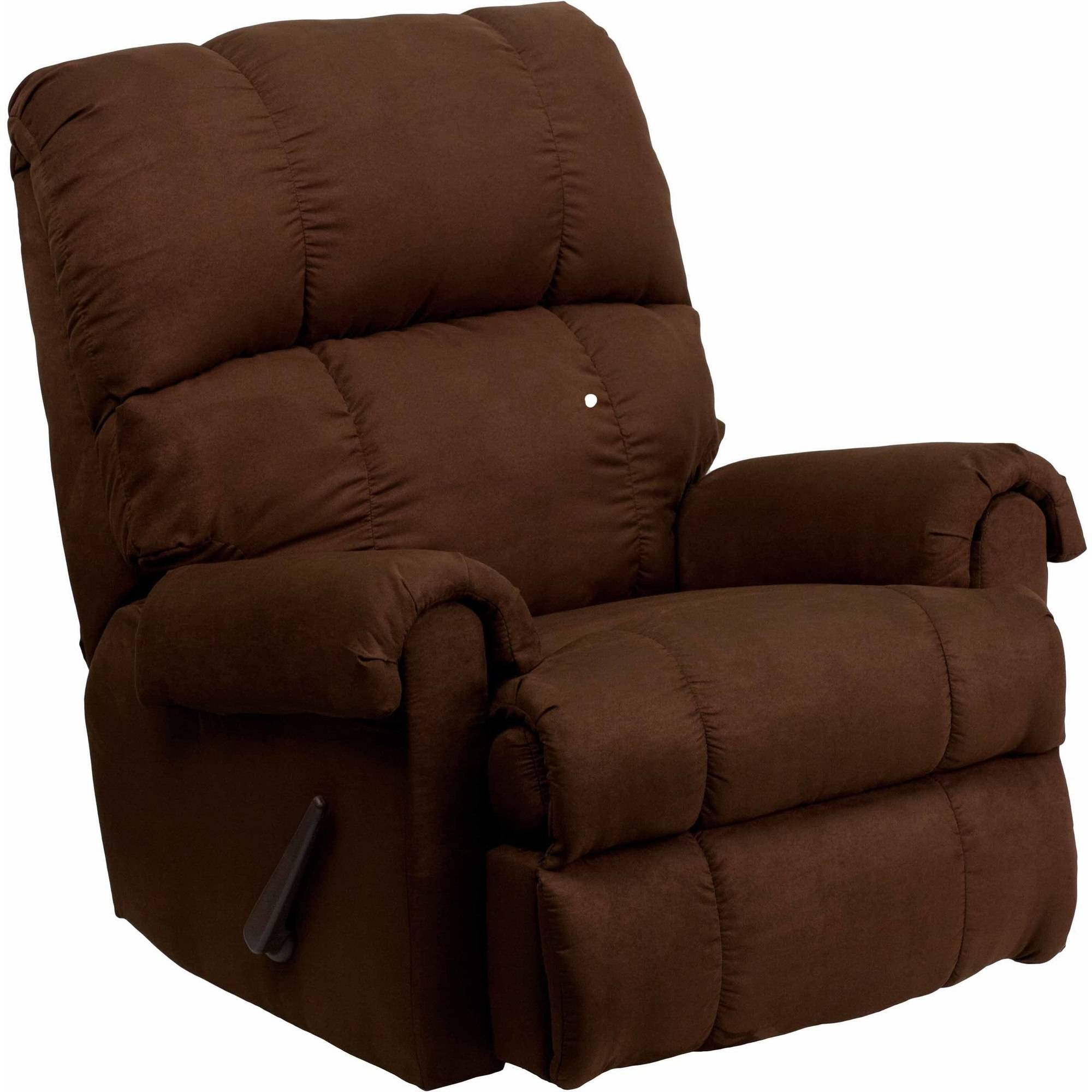 Flash Furniture Contemporary Flatsuede Microfiber Rocker Recliner, Multiple Colors