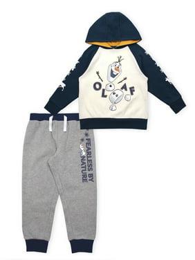 Disney Frozen 2 Olaf Toddler Boy Hoodie Sweatshirt & Jogger Pants, 2pc Outfit Set