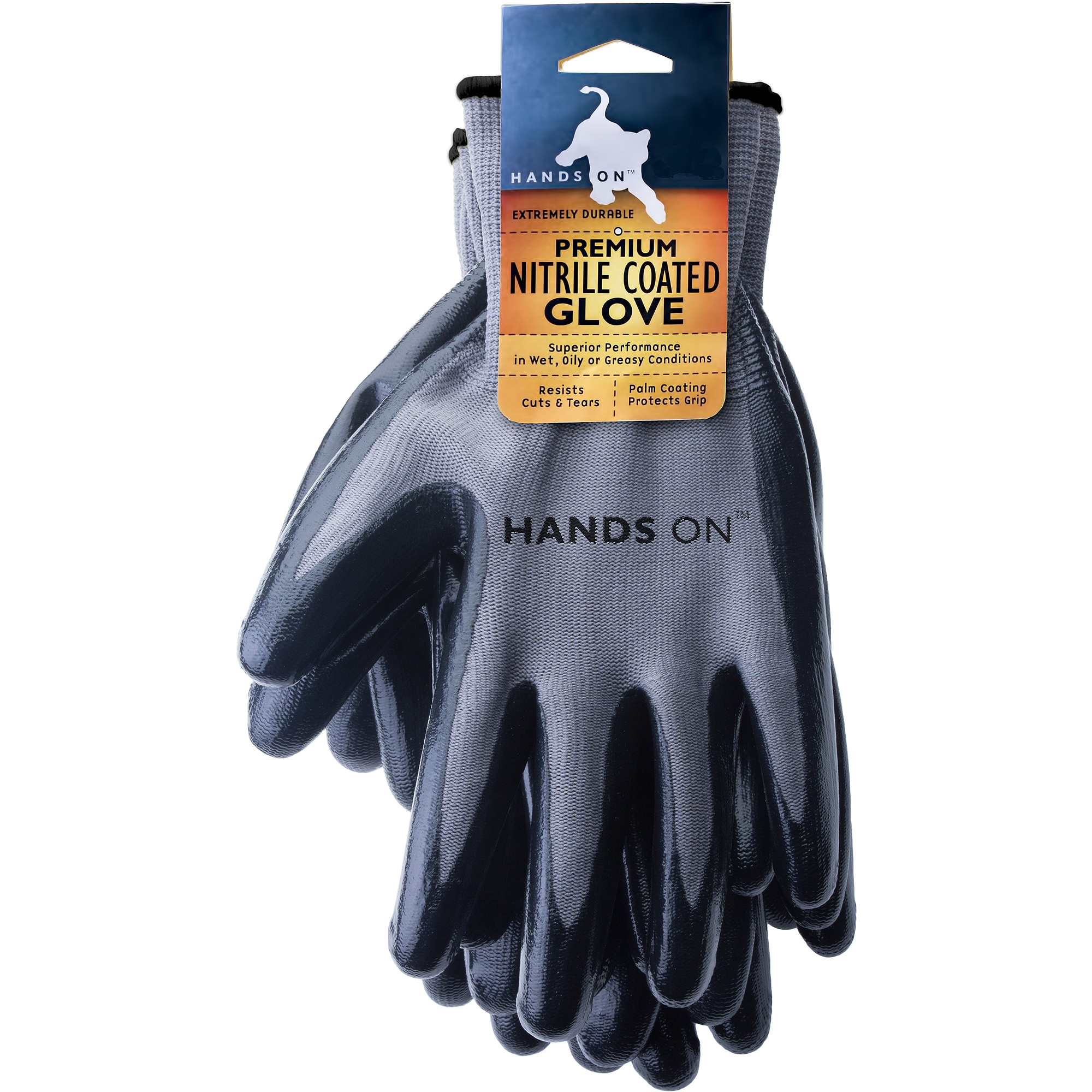 Hands On 12 Pair Value Pack, Premium Smooth Finish Nitrile Coated Glove