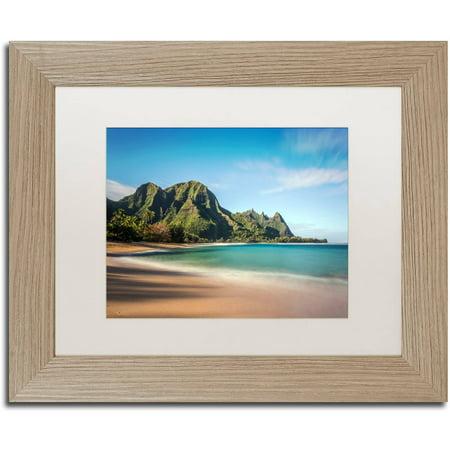 Trademark Fine Art Makua Beach Kauai Canvas By Pierre Leclerc White Matte