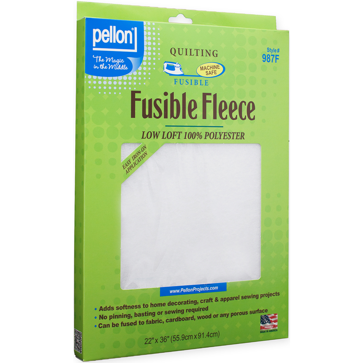 "Fusible Fleece - White 22"" X 36"""