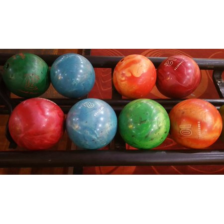 Canvas Print Alley Leisure Bowling Ball Pin Ball Sport Bowling Stretched Canvas 10 x - Ten Pin Bowling Halloween
