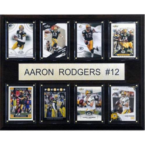 C & I Collectables 1215RODGERS8C NFL Aaron Rodgers Green Bay Packers 8 Card Plaque