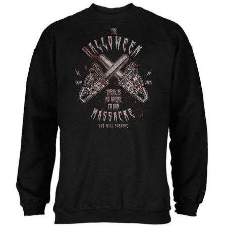 Halloween Chainsaw Massacre Bloody Horror Mens Sweatshirt](Halloween Horror Nights Chainsaws)
