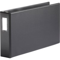 Business Source, BSN44102, Tabloid-size Round Ring Reference Binder, 1 Each, Black