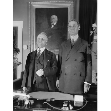 Senator Carter Glass And Treasury Secretary William Mcadoo Ca 1920 Glass Was Co-Sponsor History