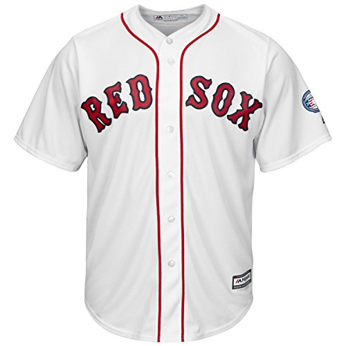 Pedro Martinez Boston Red Sox #45 MLB HOF Men's Cool Base Home Jersey (Small)
