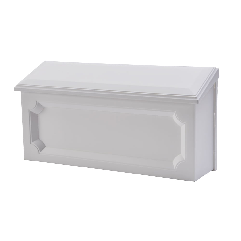 Gibraltar Mailboxes Windsor Medium Rust-Proof Plastic White Wall Mount Mailbox, WMH00W04 by Solar Group Inc.