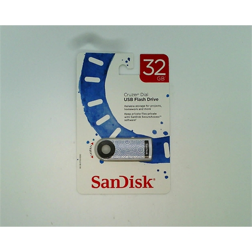 SanDisk Cruzer Dial USB Flash Drive 32 GB (Blue Dots)